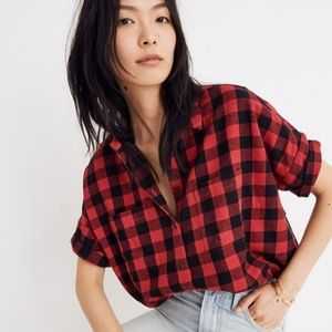 NWT Madewell Flannel Courier Shirt Buffalo Check